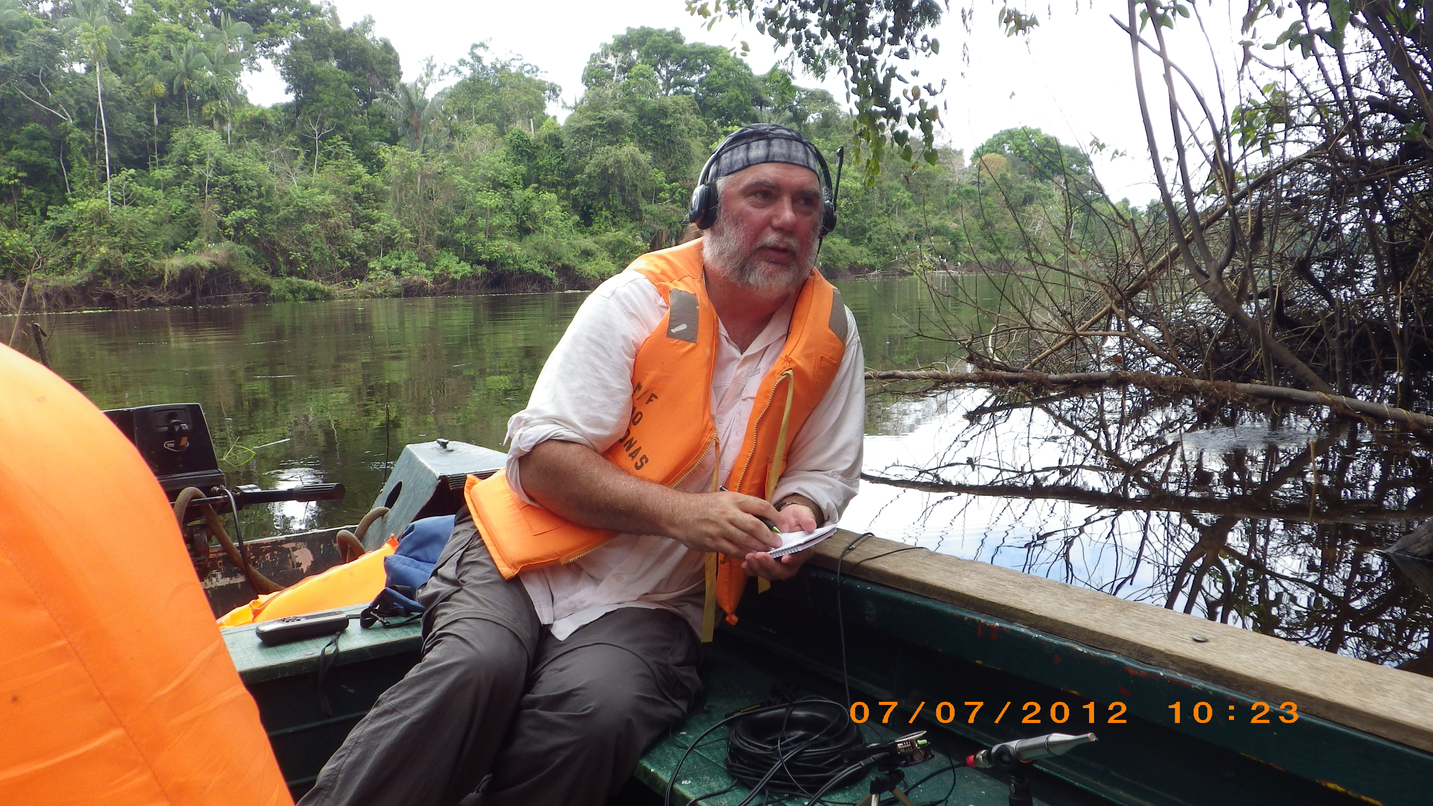 Rountree recording in the Amazon